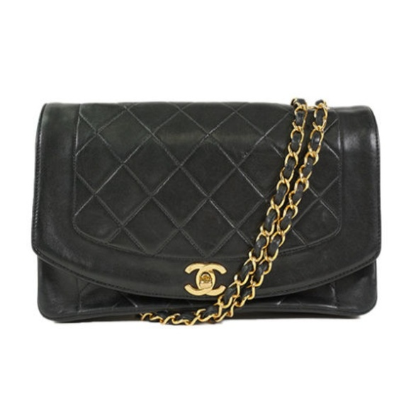 c2ae232429b2 CHANEL Bags | Diana Flap Bag Authentic Black Vintage | Poshmark